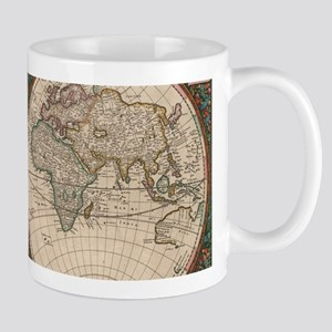 Vintage World Map (1665) 2 Mugs